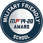 Badge for being a Military Friendly school