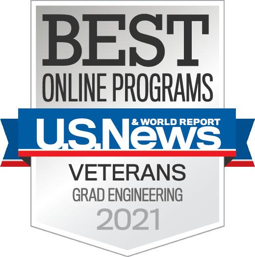US News ranked Best Online Master's in Engineering Programs for Veterans